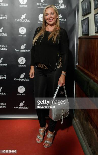 Belen Esteban attends the 'Chicote Awards 2017' photocall at Museo Chicote restaurant on September 27 2017 in Madrid Spain