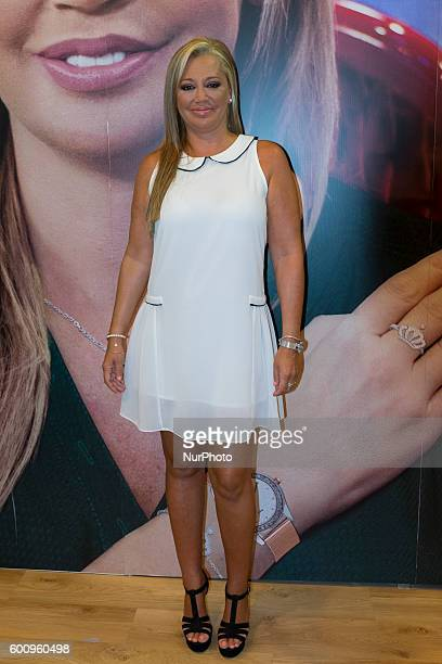 Belen Esteban attends the 'Salvame jewelry' photocall jewelery line Platacero at IFEMA on September 8 2016 in Madrid Spain