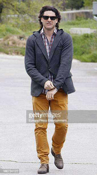 Belen Esteban's road manager Tono Sanchis is seen on April 11 2013 in Madrid Spain
