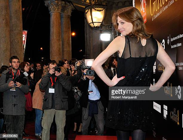 Belen Fabra attends a photocall at the Premios de Gaudi held at the Theater Coliseum on February 1, 2010 in Barcelona, Spain.