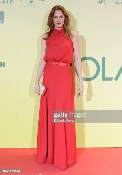 Belen Fabra attends the 'Ola de crimenes' premiere at Capitol cinema on October 3, 2018 in Madrid, Spain.