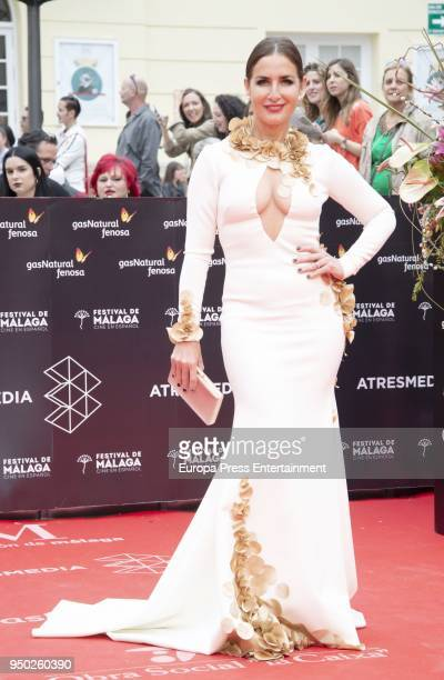 Belen Lopez during the 21th Malaga Film Festival closing ceremony at the Cervantes Teather on April 21 2018 in Malaga Spain