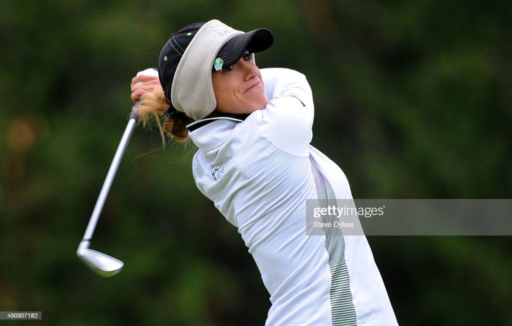 Belen Mozo of Spain hits her tee shot on the third hole during the final round of the Manulife Financial LPGA Classic at the Grey Silo Golf Course on June 8, 2014 in Waterloo, Ontario, Canada.