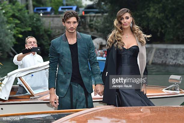 Belen Rodriguez and Stefano De Martino are seen during The 71st Venice International Film Festival on September 4 2014 in Venice Italy