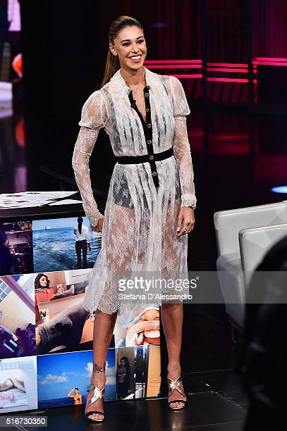 Belen Rodriguez attends 'Che Tempo Che Fa' Tv Show on March 20 2016 in Milan Italy