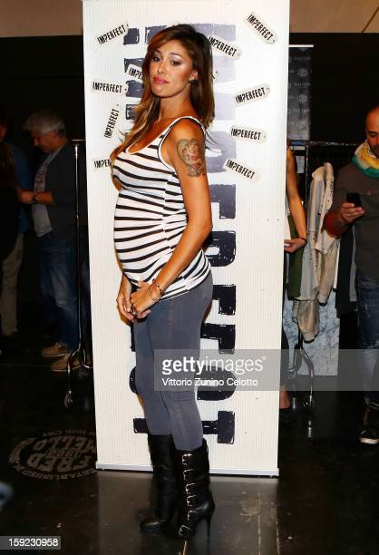 Belen Rodriguez attends merfect By Belen Rodriguez photocall on January 10 2013 in Florence Italy