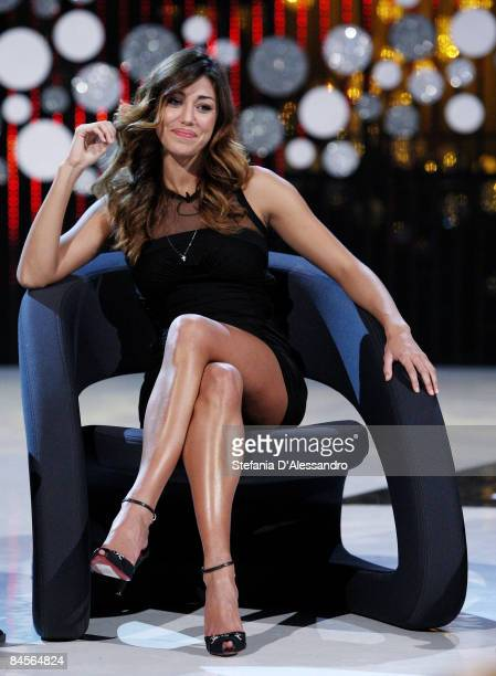 Belen Rodriguez attends 'Scherzi a Parte' Television Show Photocall held at Mediaset Studios on January 23 2009 in Milan Italy