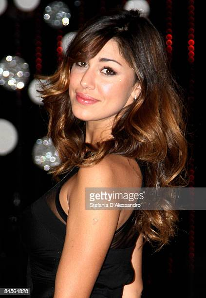 Belen Rodriguez attends Scherzi a Parte Television Show Photocall held at Mediaset Studios on January 23 2009 in Milan Italy