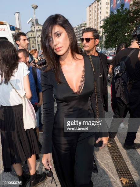 Belen Rodriguez is seen during Milan Fashion Week Spring/Summer 2019 on September 19 2018 in Milan Italy Photo by Arnold Jerocki/Getty Images