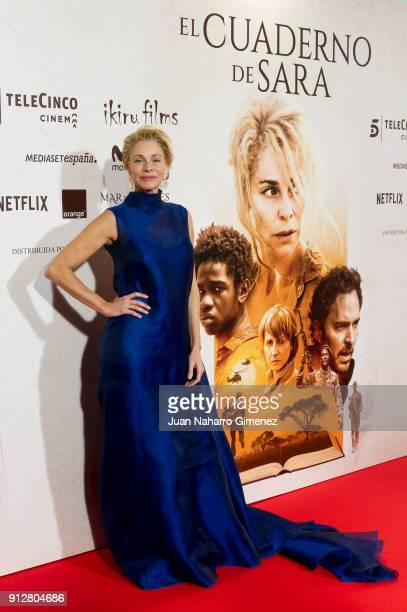 Belen Ruea attends 'El Cuaderno De Sara' premiere at the Capitol cinema on January 31 2018 in Madrid Spain
