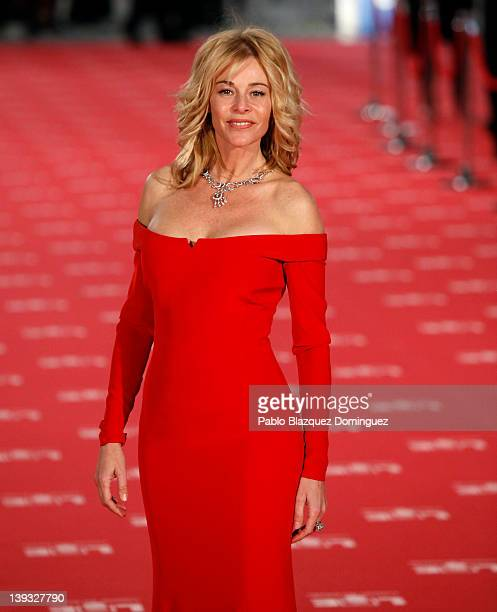 Belen Rueda arrives to Goya Cinema Awards 2012 ceremony at the Palacio Municipal de Congresos on February 19 2012 in Madrid Spain