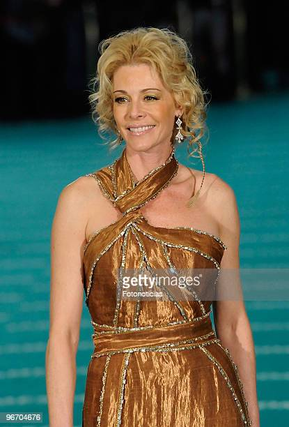 Belen Rueda arrives to the 2010 edition of the 'Goya Cinema Awards' ceremony at the Palacio de Congresos on February 14 2010 in Madrid Spain