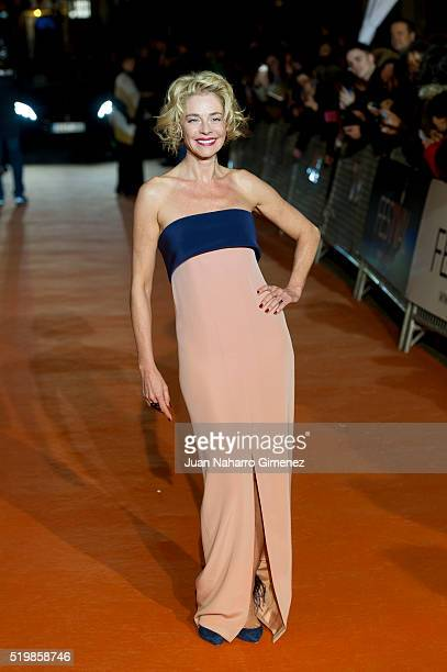 Belen Rueda attends 'La Embajada' premiere during FesTVal at Teatro Circo on April 8 2016 in Albacete Spain
