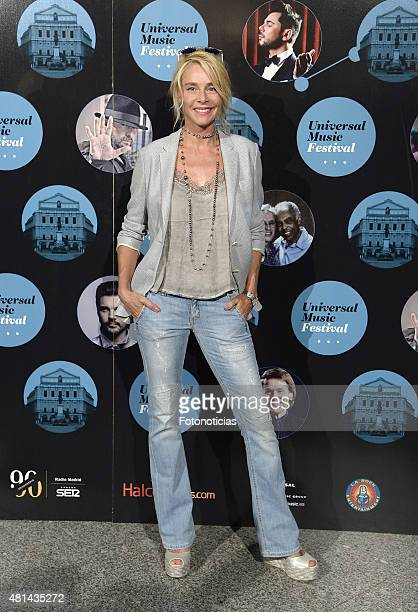 Belen Rueda attends the Elton John concert at the Royal Theater on July 20 2015 in Madrid Spain