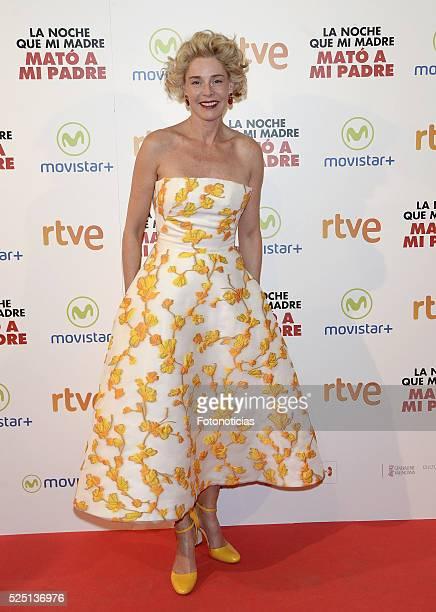 Belen Rueda attends the 'La Noche Que Mi Madre Mato a Mi Padre' premiere at Palacio de la Prensa Cinema on April 27 2016 in Madrid Spain