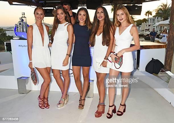 Belen Sanchez Andrea Gonzalez Luisa Crts Carolina Trillo Salazar and Julia Reina attends the CIROC On Arrival party in Ibiza hotspot Destino as model...