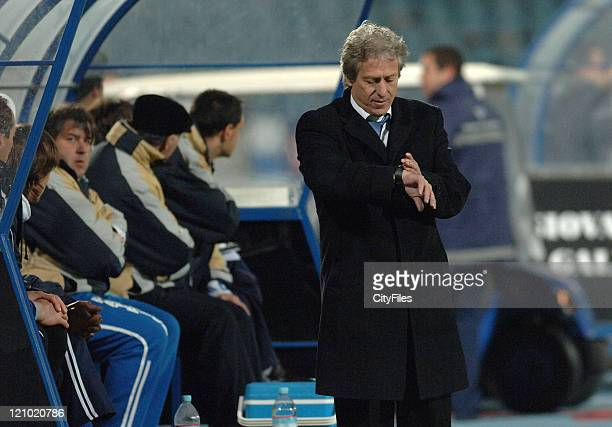 Belenenses coach Jorge Jesus during a Portuguese Bwin League 16th round match between CF Belenenses and SL Benfica in Lisbon Portugal on January 27...