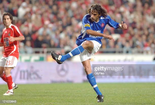 Belenenses' Ze Pedro in action during the Portuguese Bwin League match against Benfica December 21 2006 in Lisbon Portugal