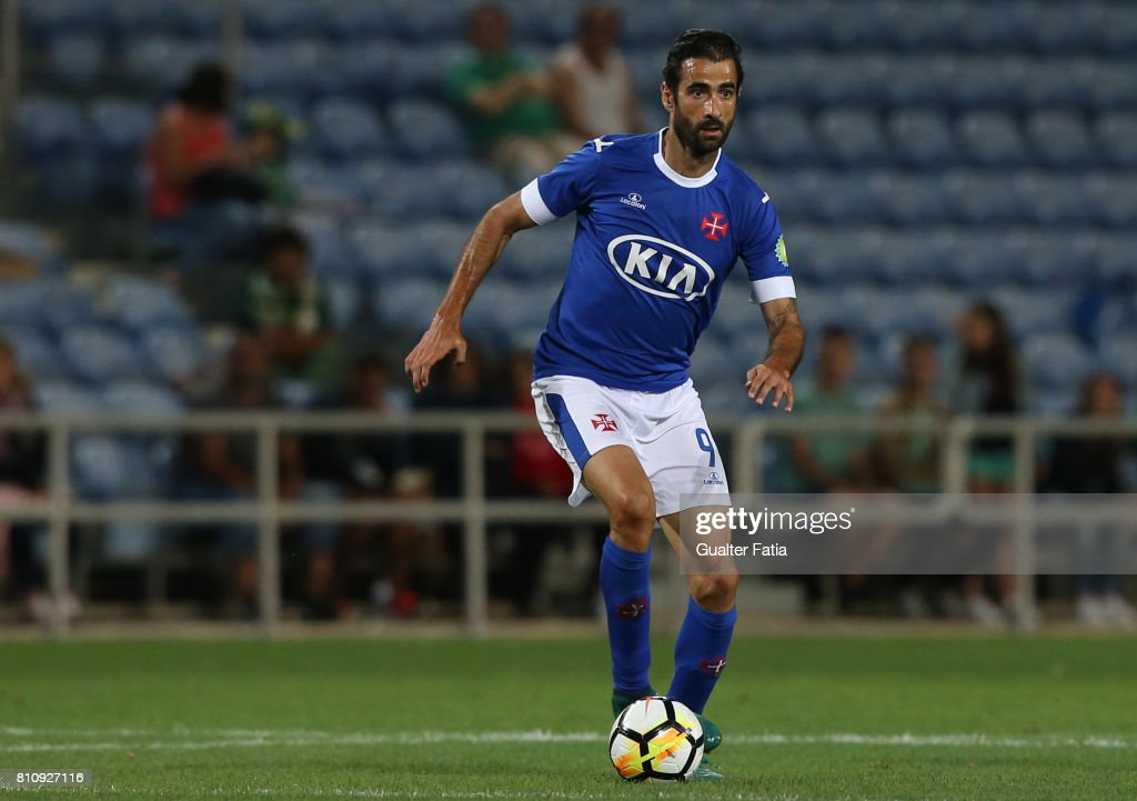 Belenenses's forward Tiago Caeiro from Portugal in action during the Pre-Season Friendly match between Sporting CP and CF Os Belenenses at Estadio Algarve on July 7, 2017 in Faro, Portugal.