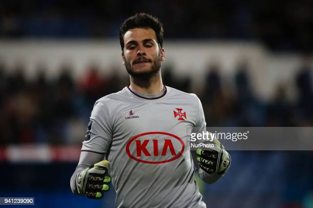 Belenenses's goalkeeper Andre Moreira in action during the Portuguese League football match between Belenenses and FC Porto at Restelo stadium in...