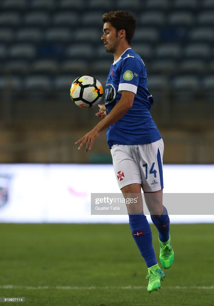 Belenenses's midfielder Goncalo in action during the Pre-Season Friendly match between Sporting CP and CF Os Belenenses at Estadio Algarve on July 7, 2017 in Faro, Portugal.