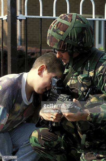 Belfast after Irish Republican Army ceasefire United Kingdom On September 03 1994 British soldier