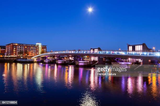 belfast architecture along river lagan - belfast stock photos and pictures