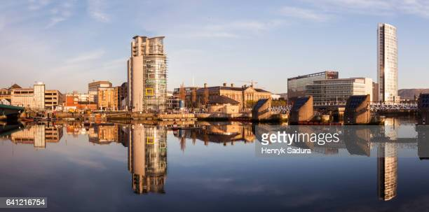 Belfast architecture along River Lagan