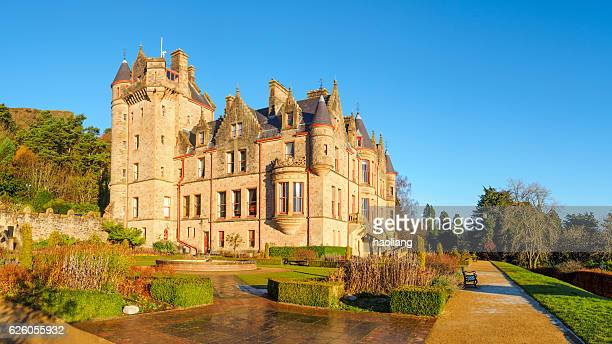 belfast castle, northern ireland - castle stock photos and pictures