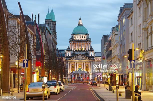belfast city hall- belfast- u.k. - ベルファスト ストックフォトと画像