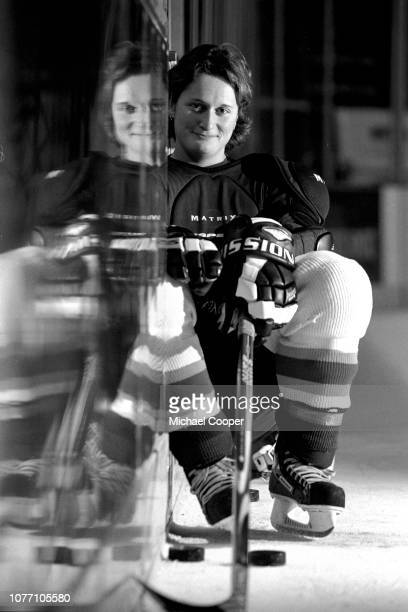 SEASON Belfast Giants physio Alexandra Von Haselberg before a practice skate at Odyssey Arena Belfast Northern Ireland Photo by Michael Cooper/Getty...