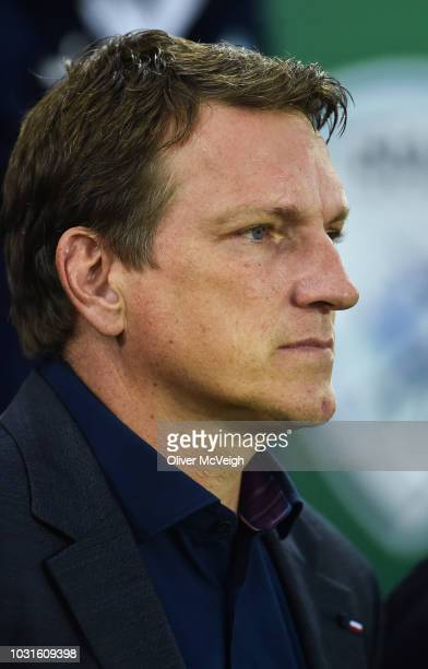 Belfast Ireland 11 September 2018 Israel manager Andi Herzog during the International Friendly match between Northern Ireland and Israel at the...