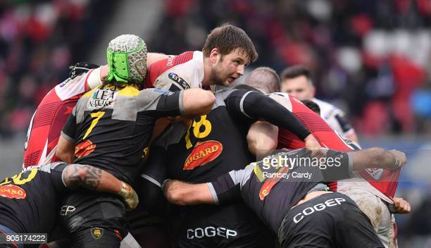 Belfast Ireland 13 January 2018 Iain Henderson of Ulster during the European Rugby Champions Cup Pool 1 Round 5 match between Ulster and La Rochelle...