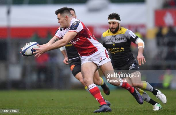 Belfast Ireland 13 January 2018 Jacob Stockdale of Ulster during the European Rugby Champions Cup Pool 1 Round 5 match between Ulster and La Rochelle...