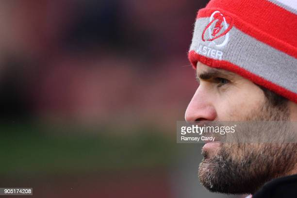 Belfast Ireland 13 January 2018 Jared Payne of Ulster ahead of the European Rugby Champions Cup Pool 1 Round 5 match between Ulster and La Rochelle...