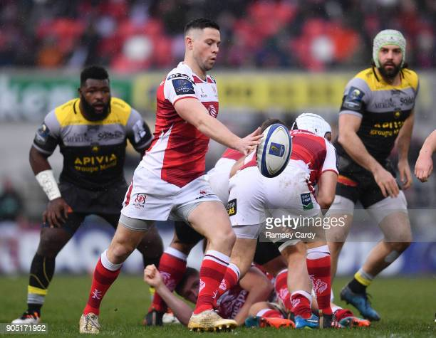 Belfast Ireland 13 January 2018 John Cooney of Ulster during the European Rugby Champions Cup Pool 1 Round 5 match between Ulster and La Rochelle at...