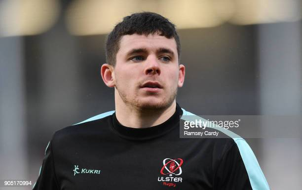 Belfast Ireland 13 January 2018 Nick Timoney of Ulster during the European Rugby Champions Cup Pool 1 Round 5 match between Ulster and La Rochelle at...