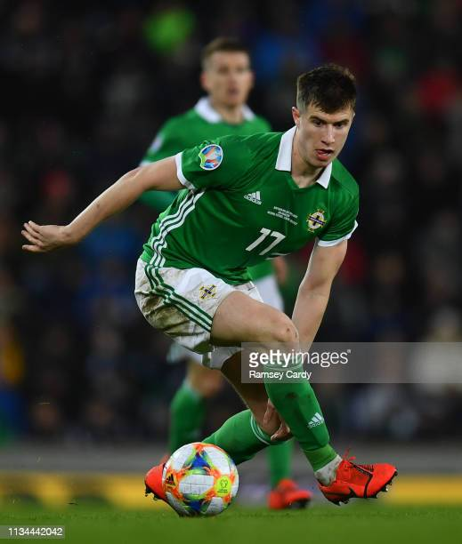 Belfast Ireland 24 March 2019 Paddy McNair of Northern Ireland during the UEFA EURO2020 Qualifier Group C match between Northern Ireland and Belarus...