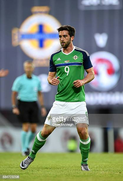 Belfast Ireland 27 May 2016 Will Grigg of Northern Ireland during the International Friendly between Northern Ireland v Belarus in the Windsor Park...
