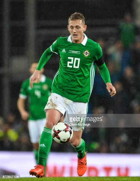 Belfast Ireland 9 November 2017 George Saville of Northern Ireland during the FIFA 2018 World Cup Qualifier Playoff 1st leg match between Northern...