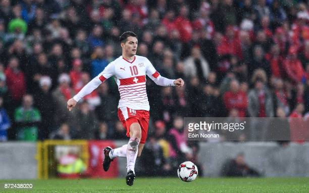 Belfast Ireland 9 November 2017 Granit Xhaka of Switzerland in action during the FIFA 2018 World Cup Qualifier Playoff 1st leg match between Northern...