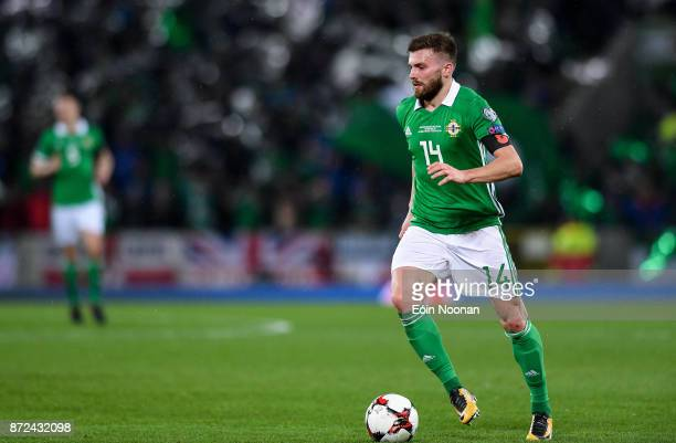 Belfast Ireland 9 November 2017 Stuart Dallas of Northern Ireland in action during the FIFA 2018 World Cup Qualifier Playoff 1st leg match between...
