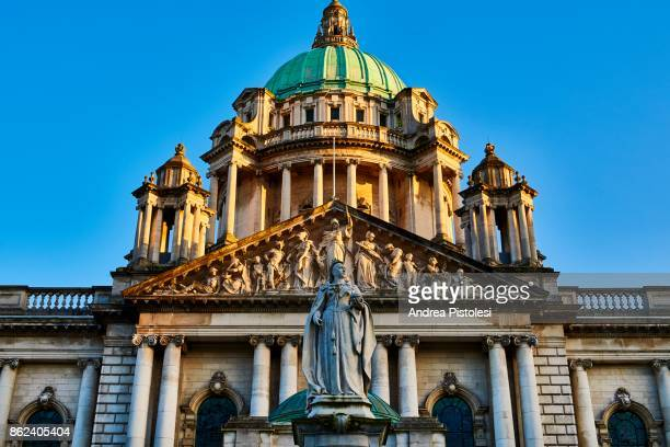 belfast, northern ireland - donegall square stock pictures, royalty-free photos & images