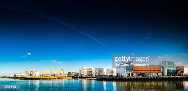 belfast titanic quarter - belfast stock pictures, royalty-free photos & images