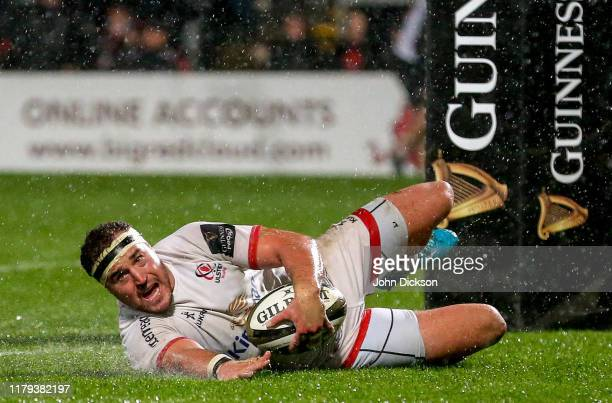 Belfast United Kingdom 1 November 2019 Rob Herring of Ulster during the Guinness PRO14 Round 5 match between Ulster and Zebre at the Kingspan Stadium...