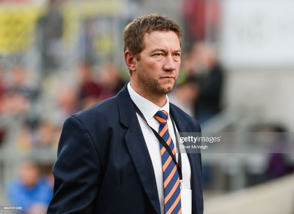 Belfast , United Kingdom - 1 September 2017; Cheetahs forwards coach Corniel Van Zyl before the Guinness PRO14 Round 1 match between Ulster and Cheetahs at Kingspan Stadium in Belfast.