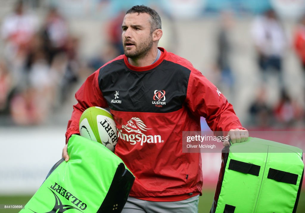 Belfast , United Kingdom - 1 September 2017; Ulster Scrum Coach Aaron Dundon before the Guinness PRO14 Round 1 match between Ulster and Cheetahs at Kingspan Stadium in Belfast.