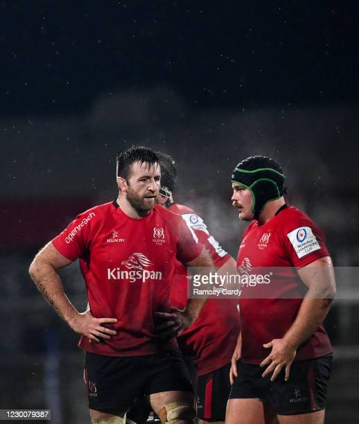Belfast , United Kingdom - 11 December 2020; Alan O'Connor, left, and Eric O'Sullivan of Ulster during the Heineken Champions Cup Pool B Round 1...