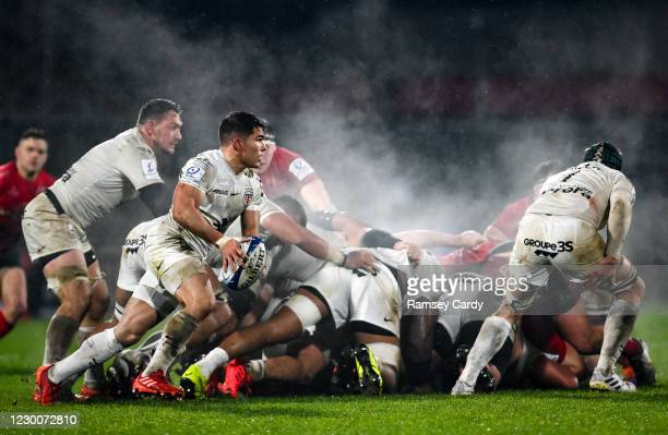 Belfast , United Kingdom - 11 December 2020; Antoine Dupont of Toulouse during the Heineken Champions Cup Pool B Round 1 match between Ulster and...