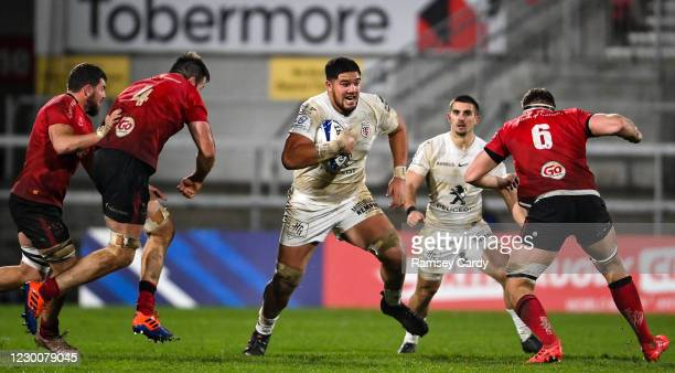 Belfast , United Kingdom - 11 December 2020; Emmanual Meafou of Toulouse during the Heineken Champions Cup Pool B Round 1 match between Ulster and...
